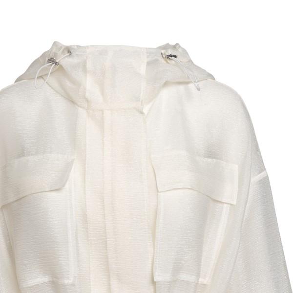 Giacca bianca lunga semitrasparente                                                                                                                    EMPORIO ARMANI EMPORIO ARMANI