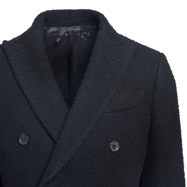 Long double-breasted coat                                                                                                                              REVERES
