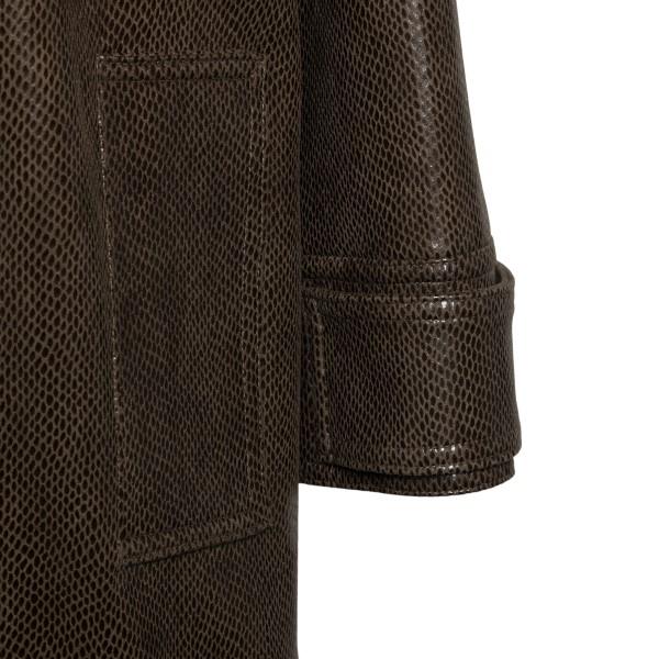 Brown snake effect coat                                                                                                                                STAND STUDIO
