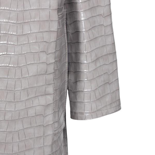 Cappotto lungo grigio effetto coccodrillo                                                                                                              STAND STUDIO                                       STAND STUDIO