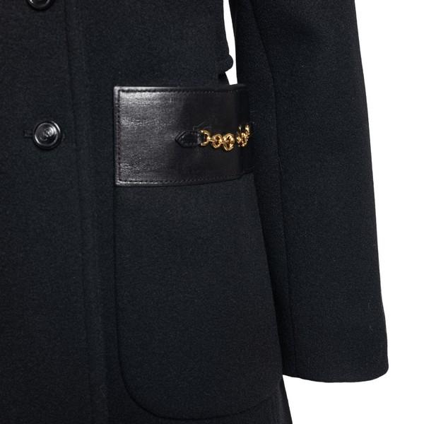 Cappotto mini con inserti in pelle                                                                                                                     GUCCI                                              GUCCI
