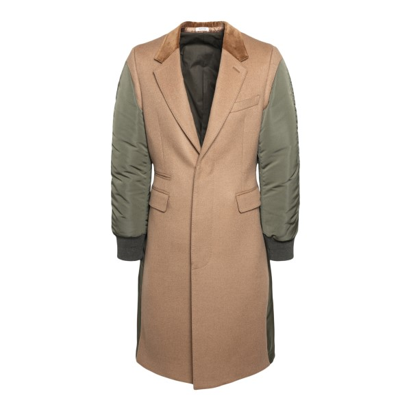 Sand and military green coat                                                                                                                           ALEXANDER MCQUEEN