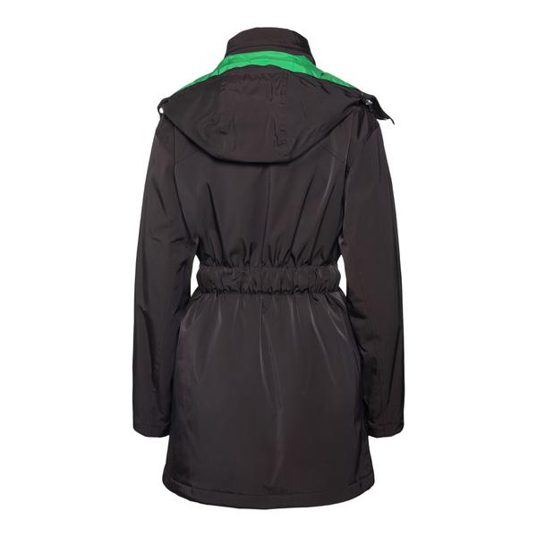 Giacca nera con cappuccio a contrasto                                                                                                                  BOTTEGA VENETA                                     BOTTEGA VENETA