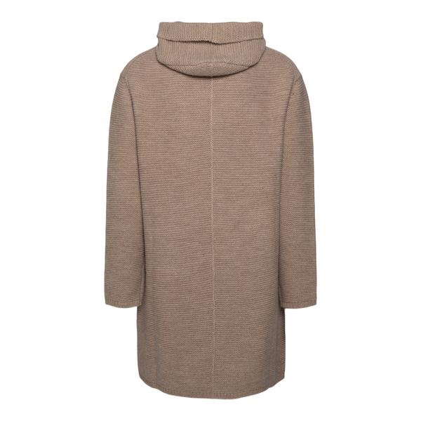 Beige knit coat                                                                                                                                        EMPORIO ARMANI