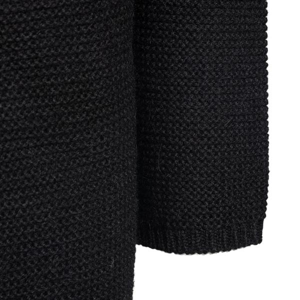Cappotto nero in maglia                                                                                                                                EMPORIO ARMANI EMPORIO ARMANI