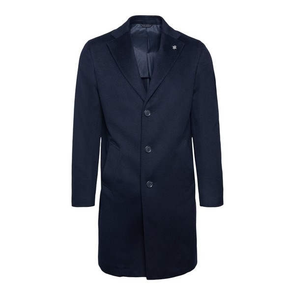Navy blue single-breasted coat                                                                                                                        Lubiam 7405 front