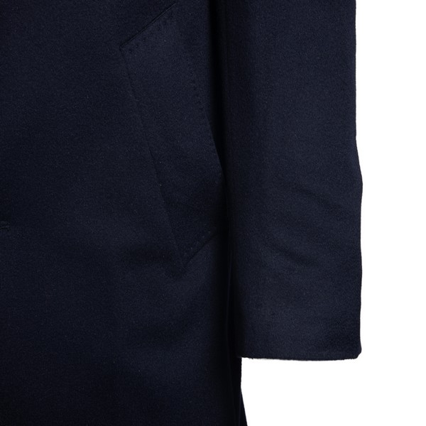 Navy blue single-breasted coat                                                                                                                         LUBIAM