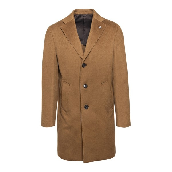 Beige single-breasted coat                                                                                                                            Lubiam 7405 front
