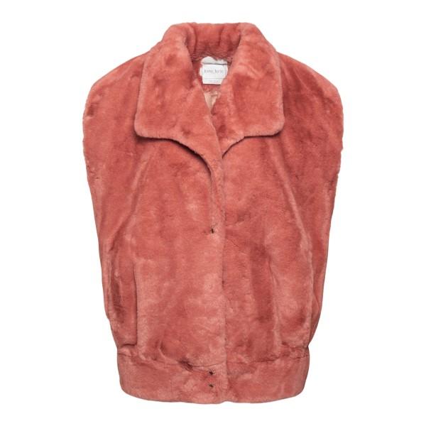 Pink vest in faux fur                                                                                                                                  FORTE FORTE