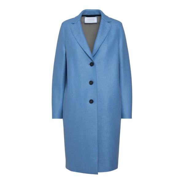 Long blue coat                                                                                                                                        Harris Wharf London A1331MLK_Y back