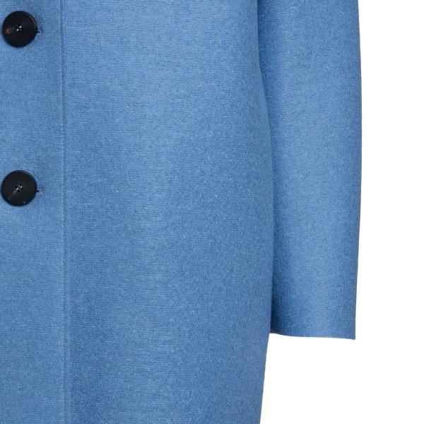 Long blue coat                                                                                                                                         HARRIS WHARF LONDON