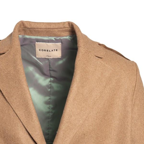 Cappotto beige con design a pannelli                                                                                                                   CORELATE                                           CORELATE