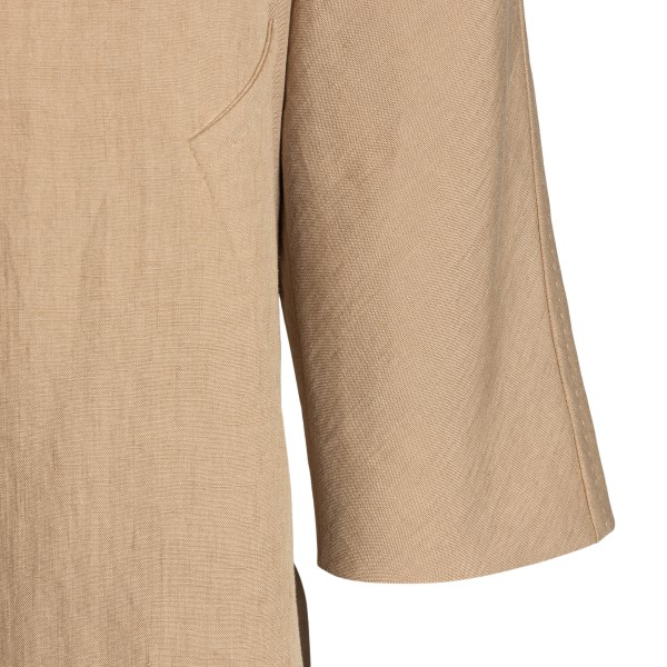 Double-breasted sand-colored trench coat                                                                                                               MAX MARA