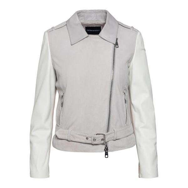 Multicolored leather jacket                                                                                                                           Emporio Armani ANB05P back