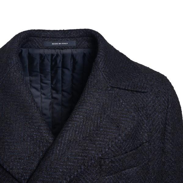 Cappotto blu scuro con trama a spina di pesce                                                                                                          TAGLIATORE                                         TAGLIATORE