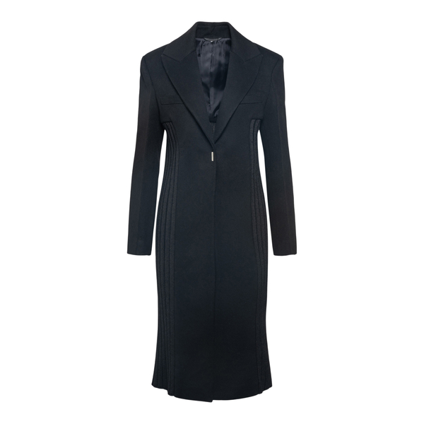 Coat with knitted inserts                                                                                                                             Givenchy BWC09E back