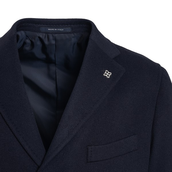 Navy blue single-breasted coat                                                                                                                         TAGLIATORE