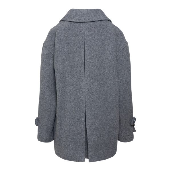 Double-breasted grey coat                                                                                                                              SEE BY CHLOE