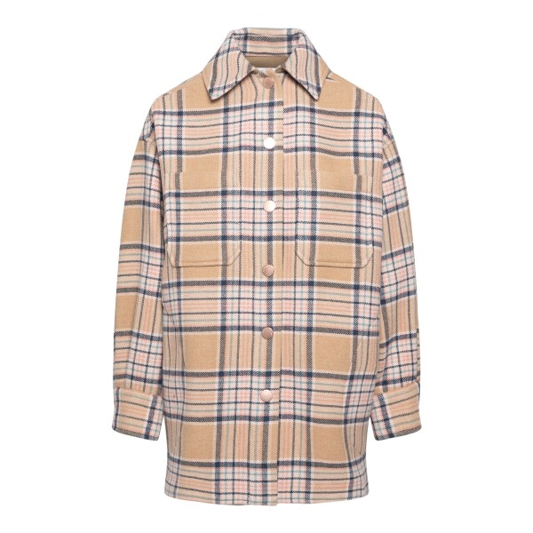 Beige checked jacket                                                                                                                                  See By Chloe CHS21AMA07 back