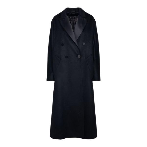 Long black double-breasted coat                                                                                                                       Max Mara CRISMA back