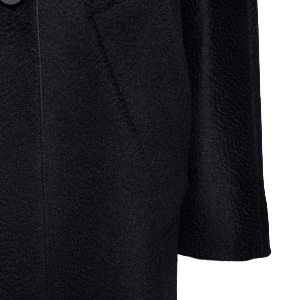 Long black double-breasted coat                                                                                                                        MAX MARA