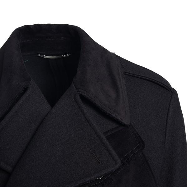 Cappotto lungo nero con cintura                                                                                                                        DOLCE&GABBANA                                      DOLCE&GABBANA