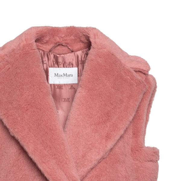 Gilet lungo rosa in alpaca e lana                                                                                                                      MAX MARA                                           MAX MARA