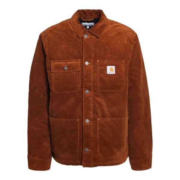Rust corduroy padded jacket                                                                                                                           Carhartt I028628 front