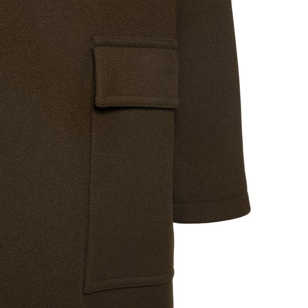 Medium length brown coat                                                                                                                               TAGLIATORE
