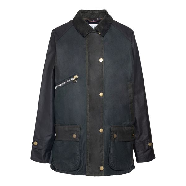 Dark green jacket with multiple pockets                                                                                                               Barbour By Alexachung LWX1183 back