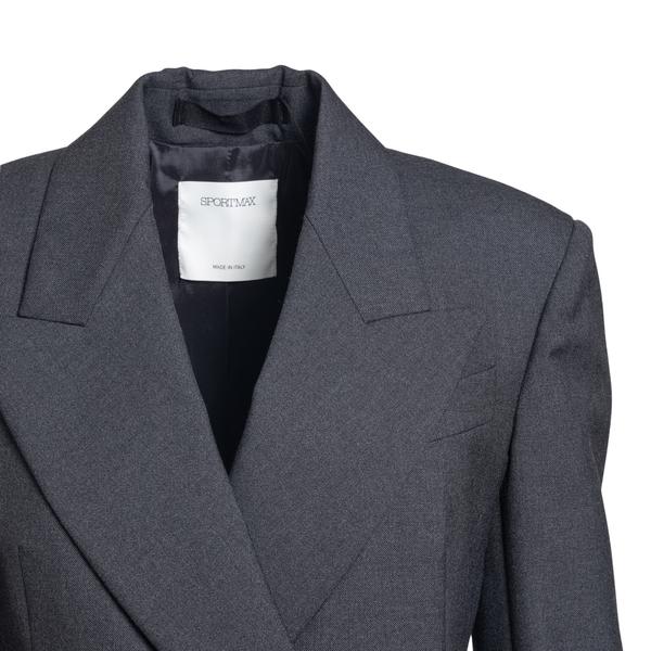 Cappotto lungo elegante grigio scuro                                                                                                                   SPORTMAX SPORTMAX