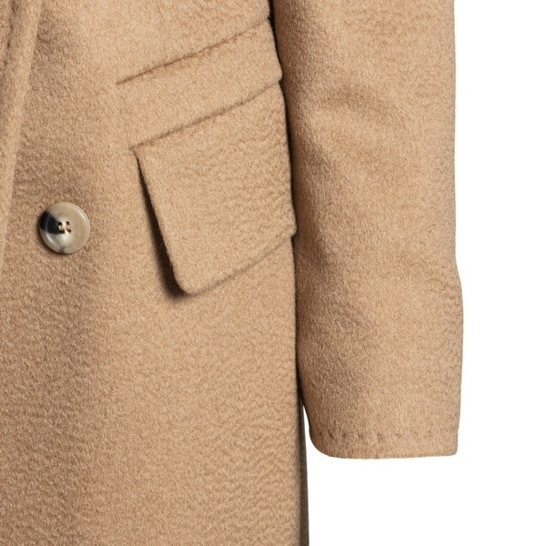 Beige coat with double-breasted                                                                                                                        MAX MARA