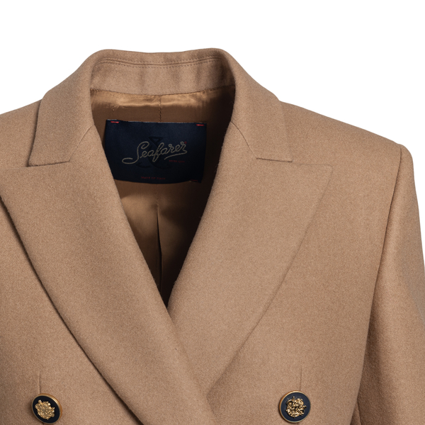 Double-breasted beige blazer                                                                                                                           SEAFARER