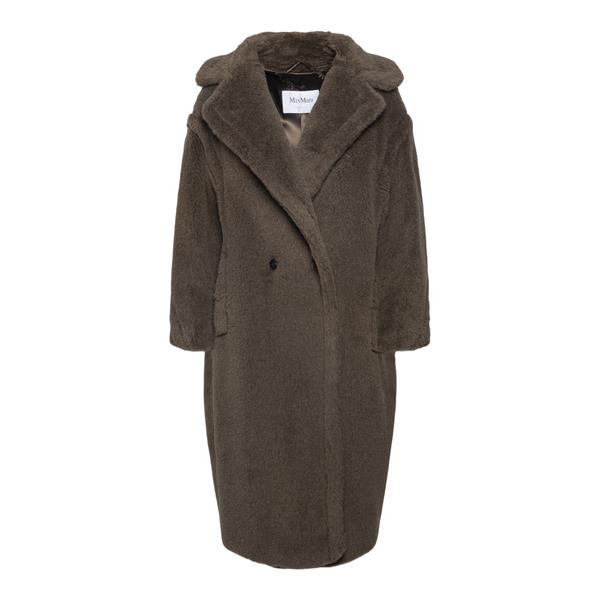 Cappotto marrone scuro effetto pelliccia                                                                                                              Max Mara TDGIRL1 retro