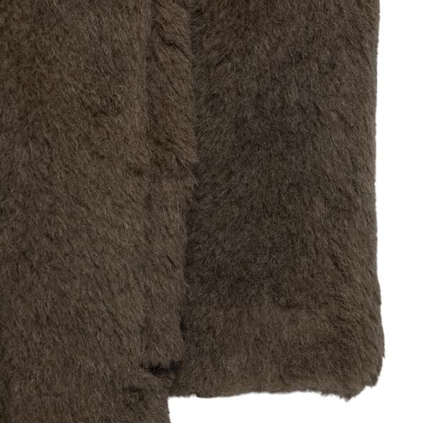 Cappotto marrone scuro effetto pelliccia                                                                                                               MAX MARA MAX MARA
