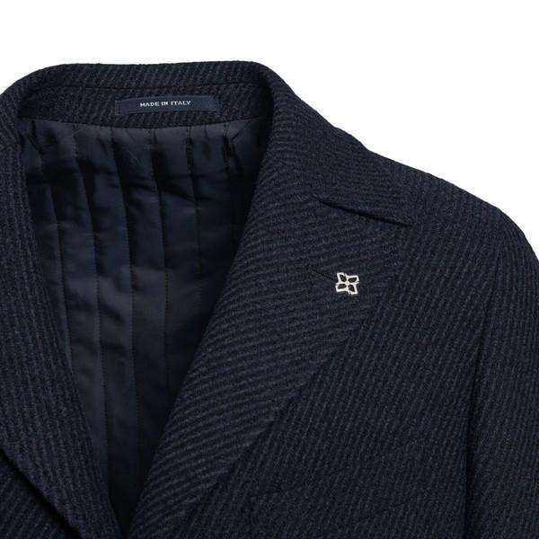Blue single-breasted coat                                                                                                                              TAGLIATORE