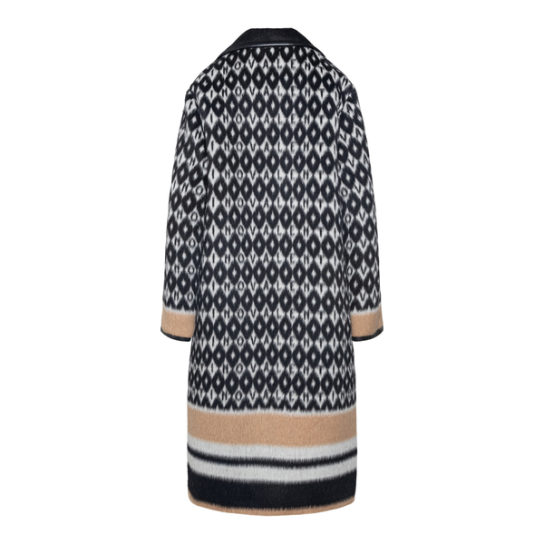Long coat with geometric motifs                                                                                                                        VALENTINO