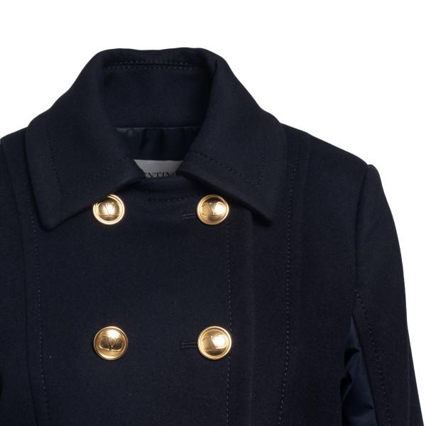 Giacca blu doppiopetto con tasche                                                                                                                      VALENTINO VALENTINO