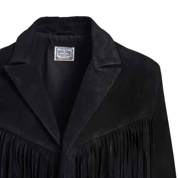 Black jacket with fringes                                                                                                                              WASHINGTON DEE CEE