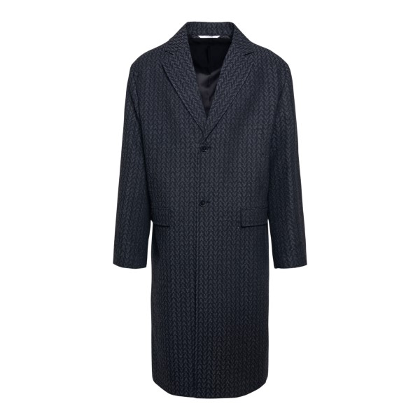 Dark grey coat with logo pattern                                                                                                                       VALENTINO