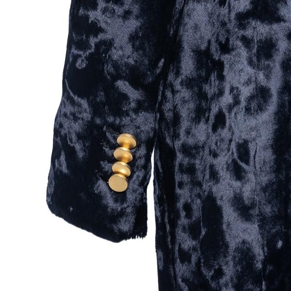 Blue velvet coat                                                                                                                                       TAGLIATORE