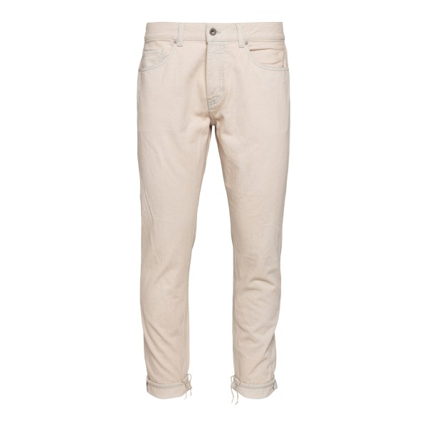Cream jeans with turn-ups                                                                                                                              PENCE