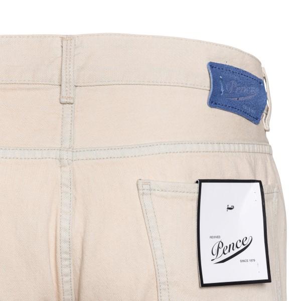 Jeans crema con risvolti                                                                                                                               PENCE                                              PENCE