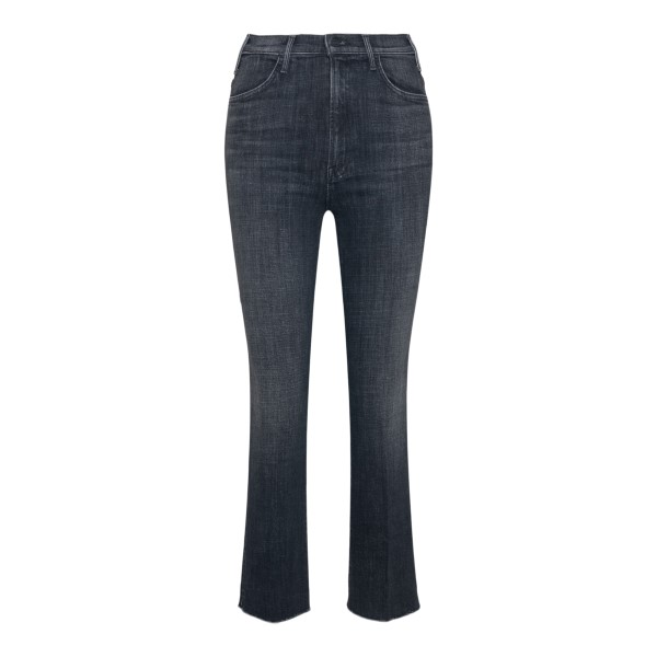 Grey cropped jeans with flared hem                                                                                                                    Mother 1117 back