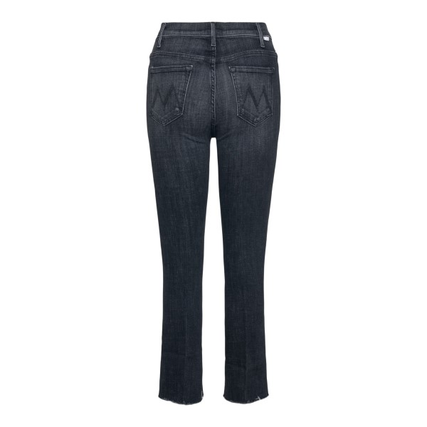 Grey cropped jeans with flared hem                                                                                                                     MOTHER