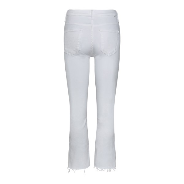 White cropped jeans                                                                                                                                    MOTHER