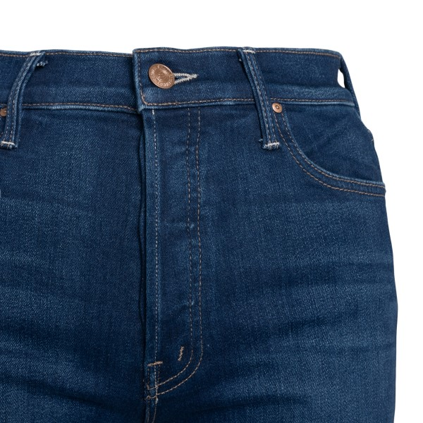 High-waisted blue flared jeans                                                                                                                         MOTHER
