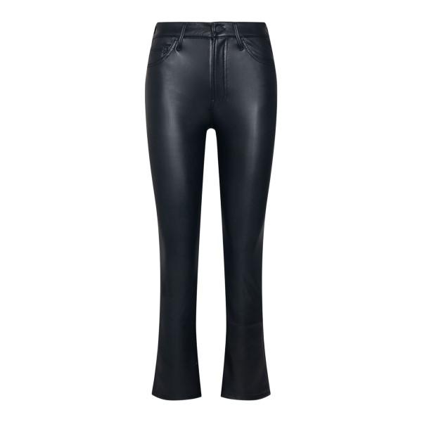 Pantaloni crop neri effetto pelle                                                                                                                      MOTHER                                             MOTHER