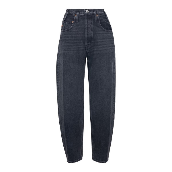 Black jeans with balloon leg                                                                                                                          Redone 1663W8JE front