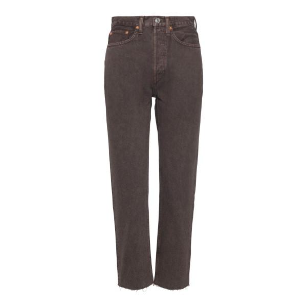 Straight leg brown jeans                                                                                                                              Redone 1843WSTV27D back